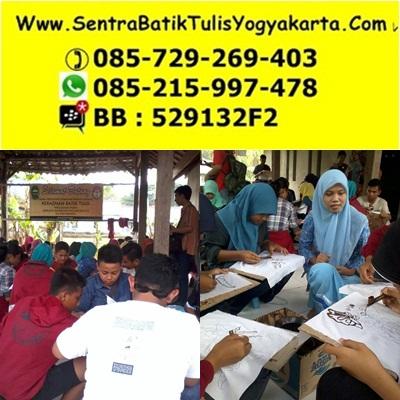 belajar membatik untuk anak dan siswa sekolah di yogyakarta
